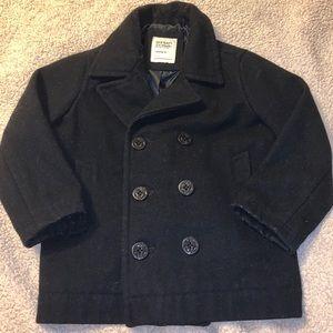 Toddler boy black coat